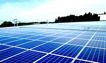 弊社工場屋根太陽光発電所